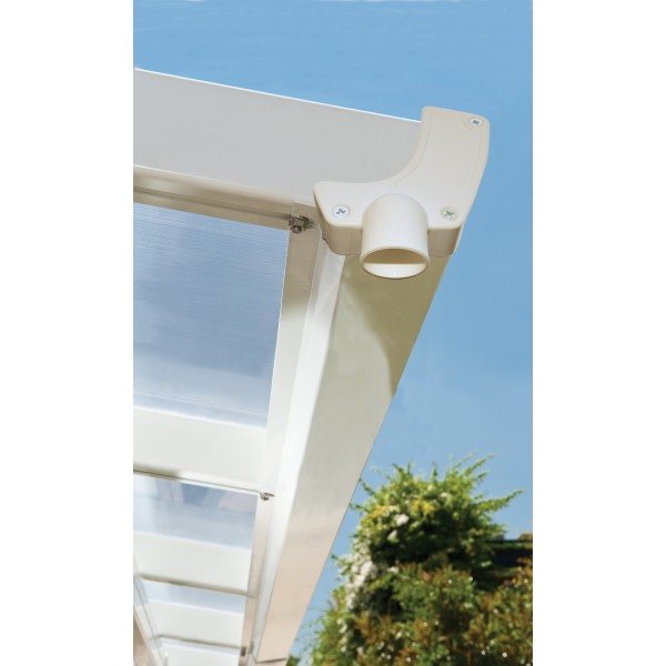 Palram 10x50 Feria Steel Patio Cover Kit White Hg9350