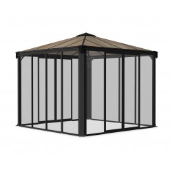 Palram 10x10 Ledro Enclosed Gazebo Kit - Gray/Bronze (HG9190)