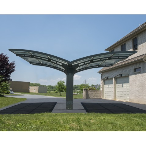 Palram Arizona Wave Double Carport Wing-Style (HG9101)