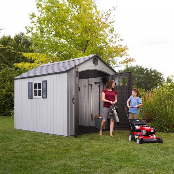 Lifetime 8x10 Outdoor Storage Shed Kit W Vertical Siding