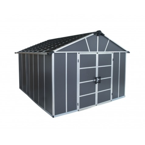 Palram Yukon 11x13 Storage Shed Kit - Gray  (HG9913SGY)