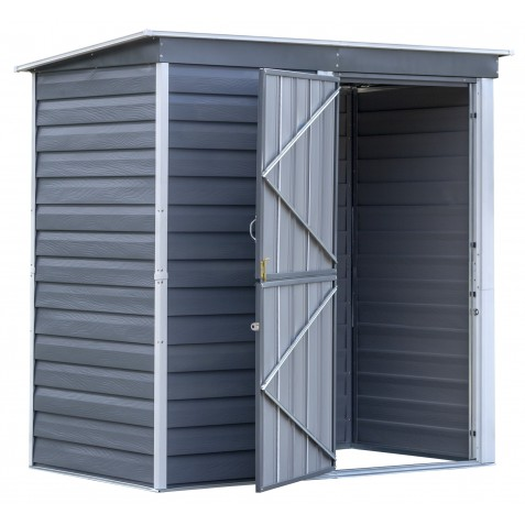 Arrow 6x4 Shed In A Box Steel Shed Charcoal Cream Sbs64