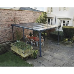 Palram Milano 4300 Garden Gazebo Kit - Grey Bronze (HG9173)