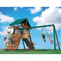 Handy Home Heartland Captain's Loft Wood Swing Set (4428)