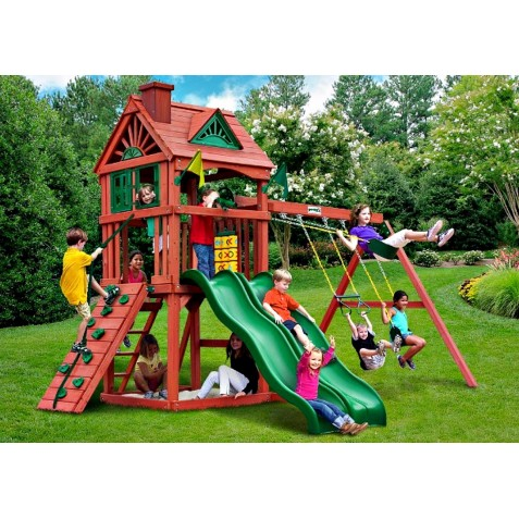 Gorilla Double Down Cedar Wood Swing Set Kit - Amber (01-0036)
