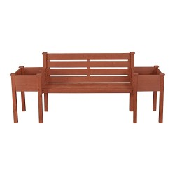 Leisure Season Wood Planter Bench (PBB7821)