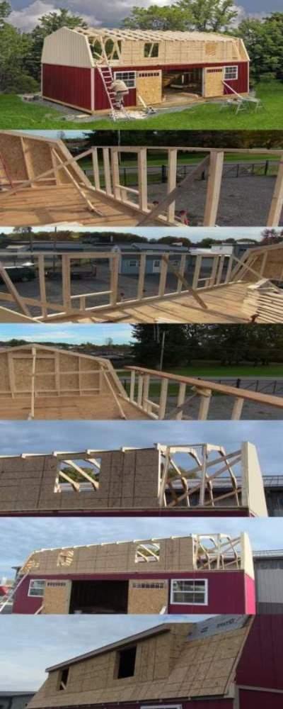 Best Barns Camp Reynolds 16x32 Wood Storage Shed Kit (campreynolds_16x32) Construction Steps