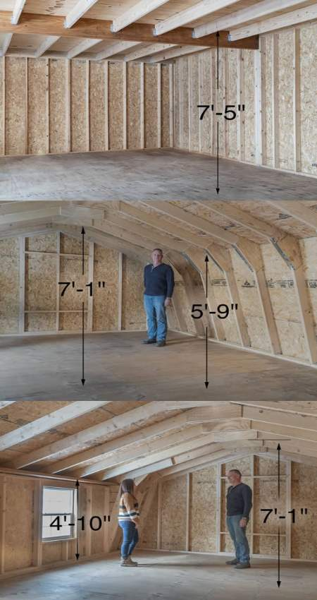 Best Barns Camp Reynolds 16x32 Wood Storage Shed Kit (campreynolds_16x32) Second-Floor Loft