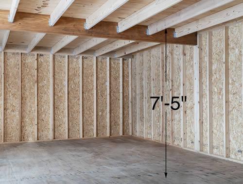 Best Barns Jefferson 16x20 Wood Garage Kit (jefferson_1620) Second Floor Loft 1