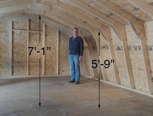Best Barns Jefferson 16x20 Wood Garage Kit (jefferson_1620) Second-Floor Loft 2