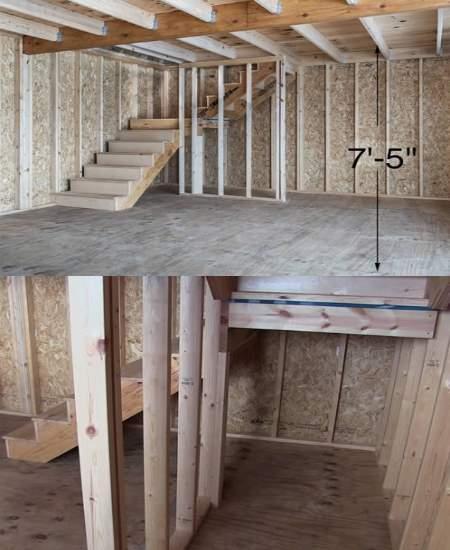 Best Barns Jefferson 16x20 Wood Garage Kit (jefferson_1620) Free Stair Kit