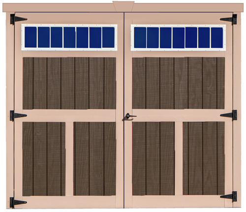 Best Barns Ravenna 16x32 Wood Storage Shed Kit (ravenna_1632) Doors