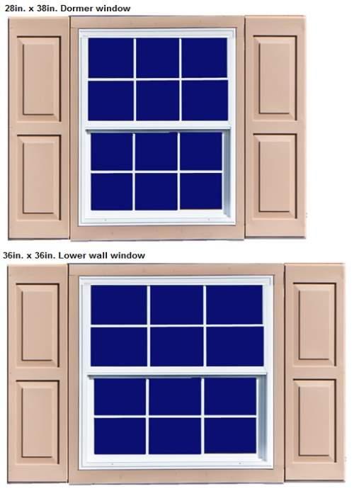 Best Barns Ravenna 16x32 Wood Storage Shed Kit (ravenna_1632) Windows
