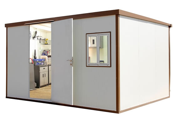 DuraMax 16x10 Flat Roof Insulated Cabin Kit (30452) You can turn this insulated shed into your own office.