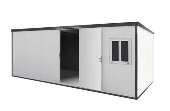 DuraMax 19x10 Flat Roof Insulated Cabin Kit (30462) This insulated flat roof cabin can serve you in a lot of purpose such as an additional space, office or storage space.
