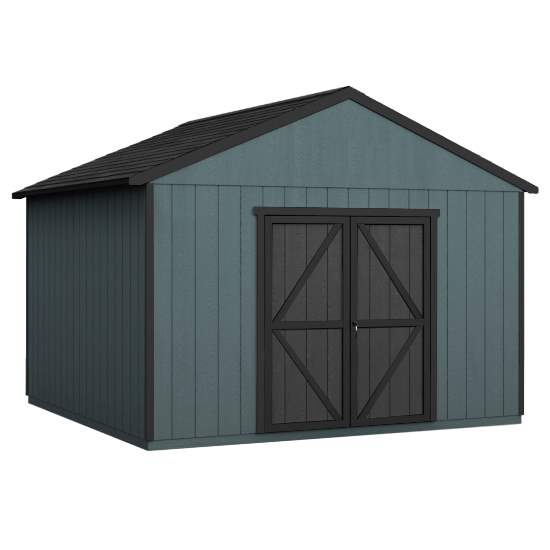 Handy Home 12x20 Astoria Wood Storage Shed Kit w/ Floor (19421-4) This wood shed is a perfect addition to any outdoor backyard.