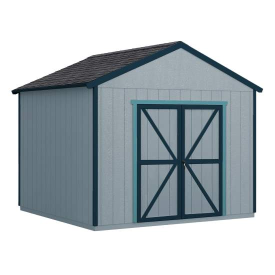 Handy Home 10x14 Rookwood Wood Storage Shed Kit (19432-0) This wood shed will give you the massive storage space that you need.
