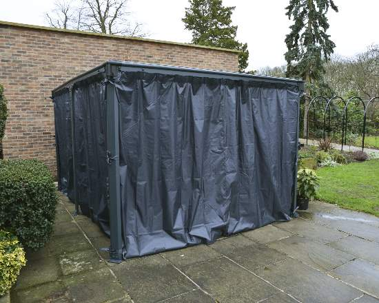 Palram Milano/Martinique Gazebo Curtain Set (HG1068) This curtain will surely give you the protection that you need from the weather and bugs.