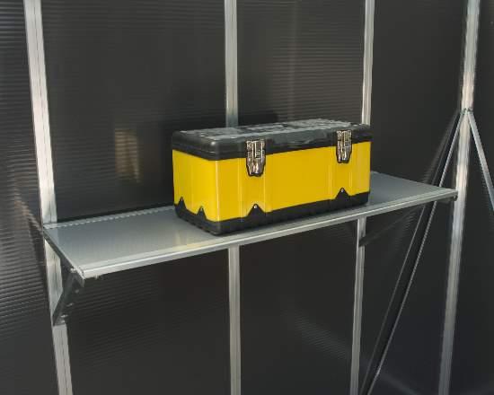 Palram Yukon Shelf Kit (HG1085) This Yukon shelf kit will help you organize your Yukon shed.