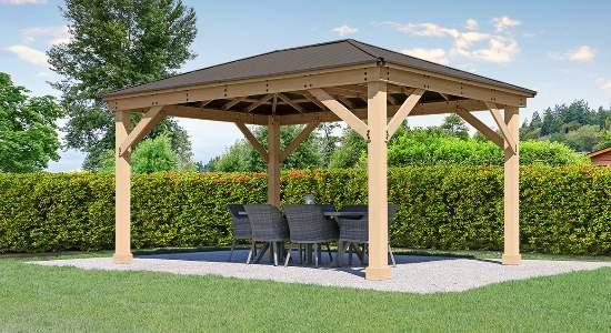 Yardistry Meridian 12x16 Gazebo Kit (YM11916) This gazebo is a perfect addition to your backyard.